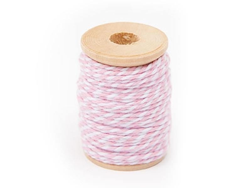 Ficelle baker twine rose - 15 m
