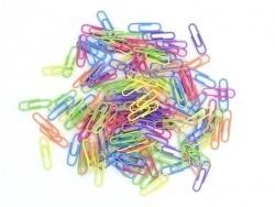 150 Bürklammern in verschiedenen Farben - 28 mm