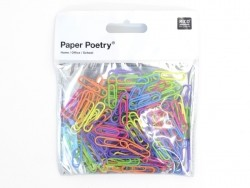 150 paper clips in different colours - 28 mm