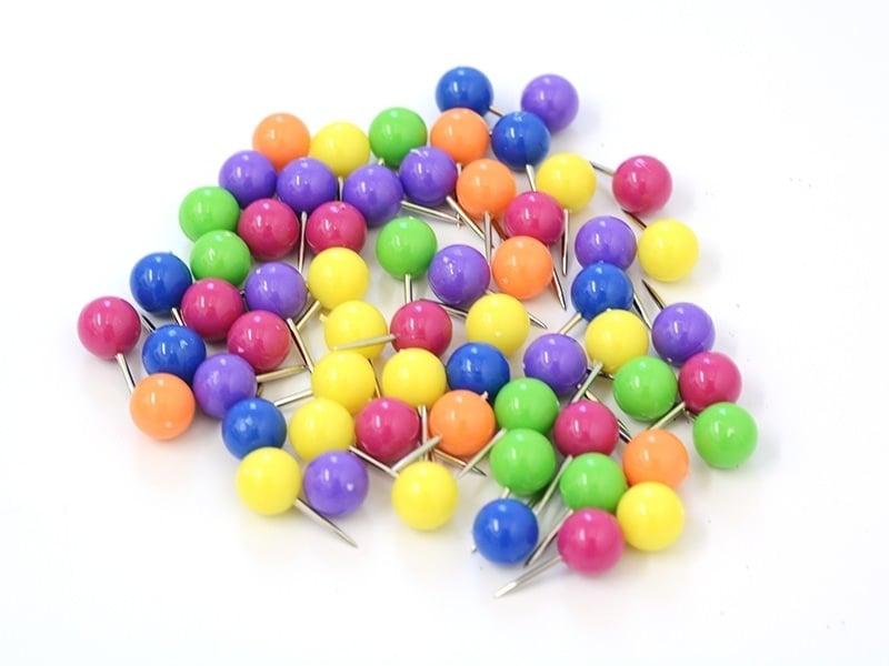 60 grosses épingles couleurs néon - 45 g.