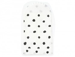6 small gift bags - black dots