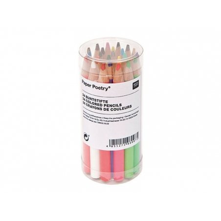 Box with 24 tiny coloured pencils Rico Design - 2