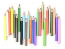 Boîte de 24 mini-crayons de couleurs Rico Design - 1