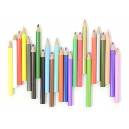 Box with 24 tiny coloured pencils Rico Design - 1