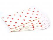 6 mini pochettes cadeaux - pois rouges