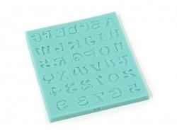 Moule alphabet et chiffres en silicone