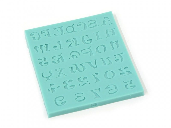 Silicone mould with letters and numbers