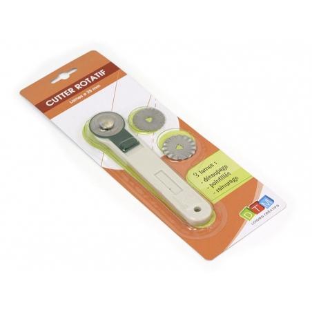 Acheter Cutter rotatif + 3 lames de rechange - 6,40€ en ligne sur La Petite Epicerie - Loisirs créatifs