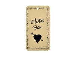 """Etiquette """"I Love You"""" pour paquet cadeau - La Petite Epicerie  - 1"""