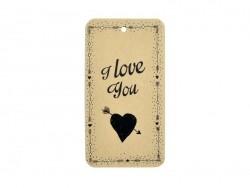 "Geschenkanhänger, beschriftet mit den Worten ""I love you"" - La Petite Épicerie"