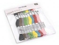 Acheter Set de 10 couleurs de fil à broder - 11,90€ en ligne sur La Petite Epicerie - Loisirs créatifs