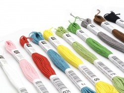 Set of 10 embroidery skeins in different colours