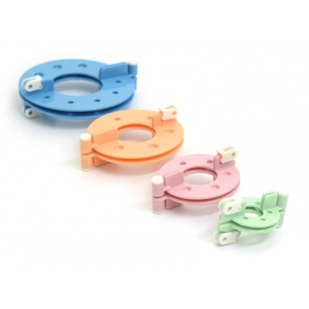 Pom-pom maker set (4 pieces)