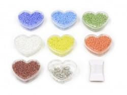 Assortiment de perles de rocailles - tons primaires - DIY jewelry kit - Rico Design - 1