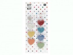 Assortiment de perles de rocailles - tons primaires - DIY jewelry kit -