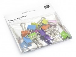 12 foldback clips - bright colours