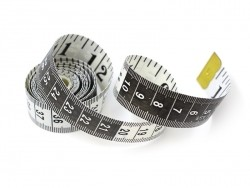 Mètre ruban 150 cm - Noir et blanc  - 1