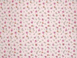 Patterned remnant - Pink flowers