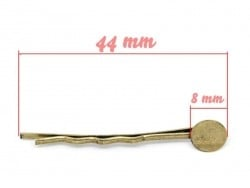 1 bronzefarbener Haarklammernrohling
