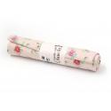 Coupon tissu à motifs -  Fleurs  roses