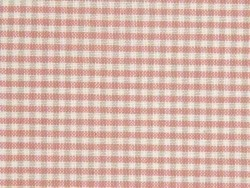 Patterned remnant - cream-coloured and pink squares