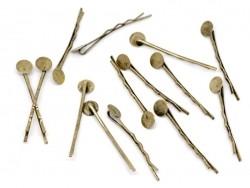 Acheter 1 support barrette couleur bronze - 0,39€ en ligne sur La Petite Epicerie - 100% Loisirs créatifs