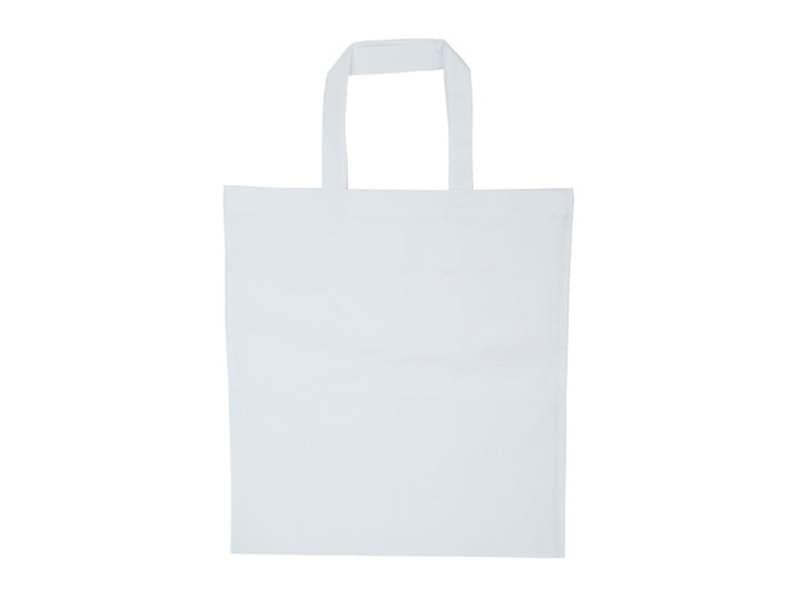 Acheter Sac shopping / Tote bag en tissu blanc - 38 x 42 cm - anses 42 cm - 3,90€ en ligne sur La Petite Epicerie - Loisirs ...