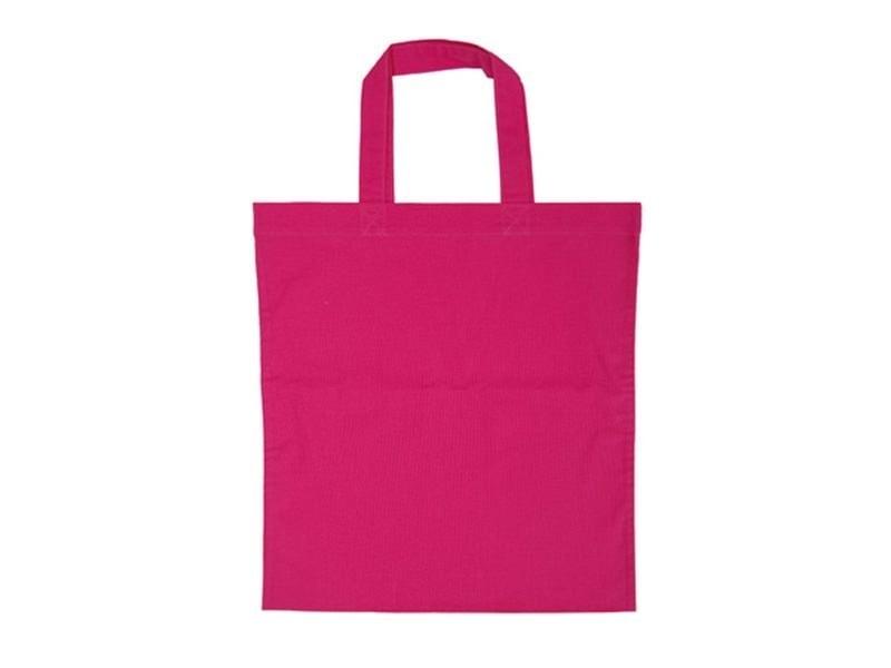 Sac shopping / Tote bag en tissu rose - 38 x 42 cm - anses 42 cm