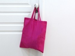 Sac shopping / Tote bag en tissu rose - 38 x 42 cm - anses 42 cm