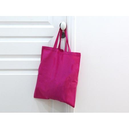 Acheter Sac shopping / Tote bag en tissu noir - 38 x 42 cm - anses 42 cm - 3,90€ en ligne sur La Petite Epicerie - Loisirs c...