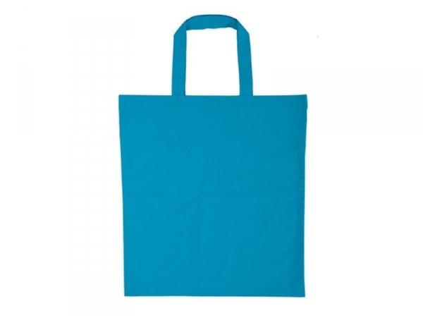 Acheter Sac shopping / Tote bag en tissu bleu - 38 x 42 cm - anses 42 cm - 3,90€ en ligne sur La Petite Epicerie - Loisirs c...