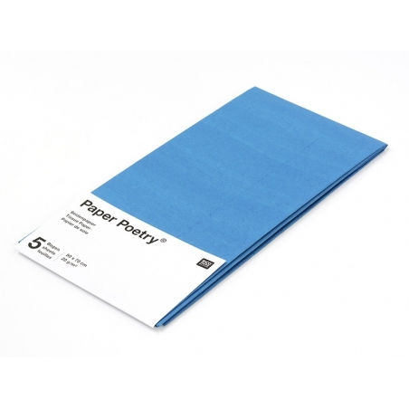 5 feuilles de papier de soie - Bleu pétrôle