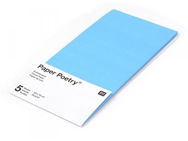 Acheter 5 feuilles de papier de soie - Bleu azur - 1,49€ en ligne sur La Petite Epicerie - Loisirs créatifs