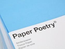 5 feuilles de papier de soie - Bleu azur