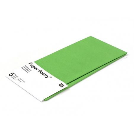 5 sheets of tissue paper - green