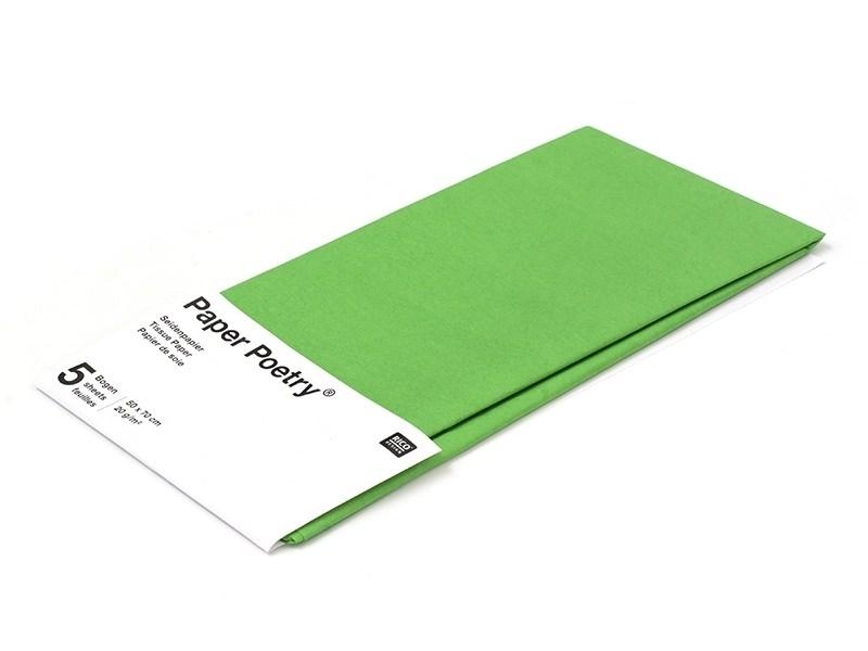 Acheter 5 feuilles de papier de soie - vert - 1,49€ en ligne sur La Petite Epicerie - 100% Loisirs créatifs
