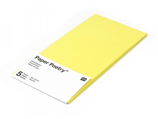 Acheter 5 feuilles de papier de soie - jaune - 1,49€ en ligne sur La Petite Epicerie - Loisirs créatifs