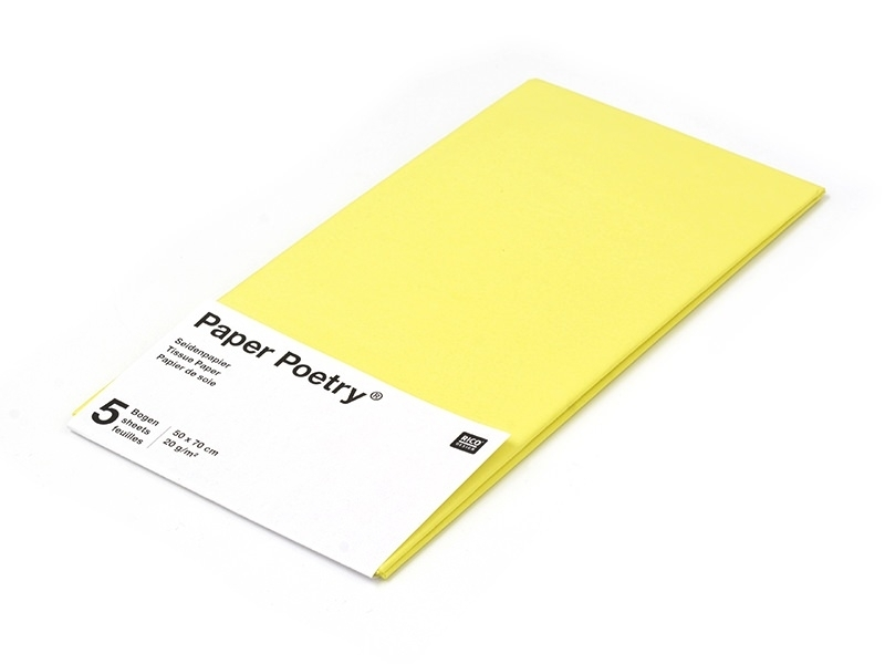 5 sheets of tissue paper - yellow