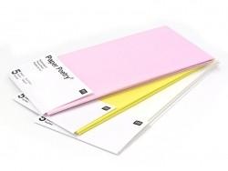 5 feuilles de papier de soie - jaune
