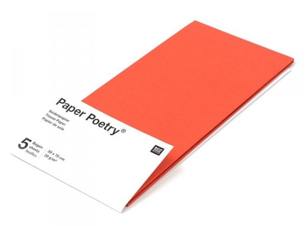 Acheter 5 feuilles de papier de soie - rouge - 1,49€ en ligne sur La Petite Epicerie - Loisirs créatifs