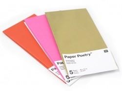 5 feuilles de papier de soie - rouge