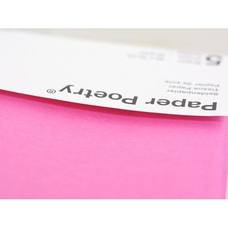 5 feuilles de papier de soie - rose