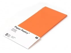 5 sheets of tissue paper - orange