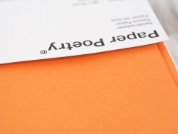 5 sheets of tissue paper - orange