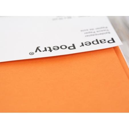 5 feuilles de papier de soie - orange