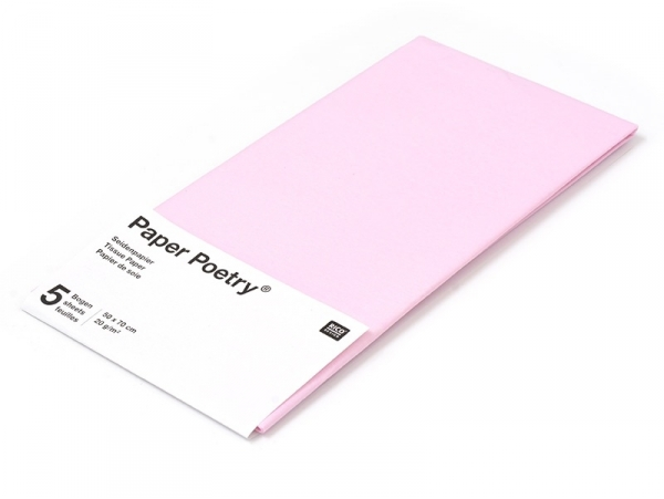 5 sheets of tissue paper - pale pink
