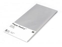 5 feuilles de papier de soie - argenté