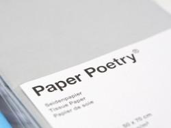 5 Bögen Seidenpapier - silberfarben