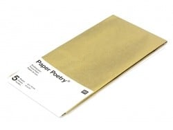 5 sheets of tissue paper - gold-coloured