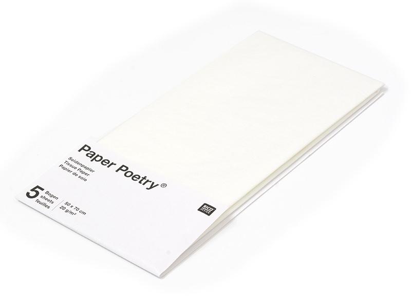 Acheter 5 feuilles de papier de soie - blanc - 1,49€ en ligne sur La Petite Epicerie - Loisirs créatifs
